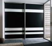 fitted-sliding-wardrobe-black-cream-glass-hallway