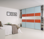 fitted-sliding-wardrobe-clear-orange-glass-mirror-interior