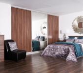 fitted-sliding-wardrobe-dark-walnut-mirror