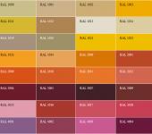 Цветовая палитра каталога RAL